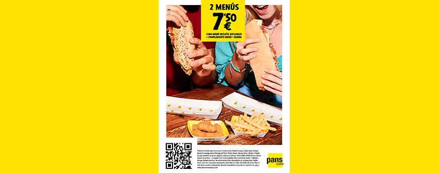 2 MENÚS POR 7,50€